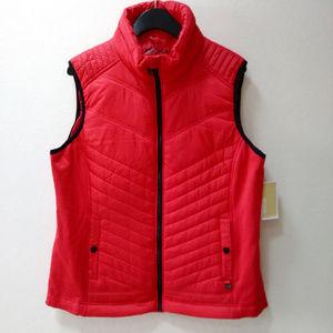 Michael Kors Quilted Puffer MK Logo Zipper Vest, L